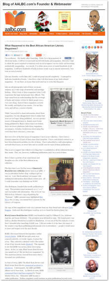 AALBC.com Blog Screen featuring Authors You Should Know