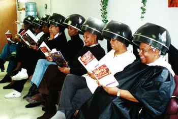 Photo of ladies reading books by Robyn Williams