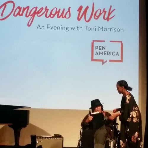 Toni Morrison and Malaika Adero