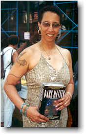 Linda Addison holding Dark Matter