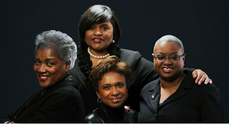 Donna L. Brazile, Yolanda Caraway, Leah Daughtry, Minyon Moore, and Veronica Chambers photo