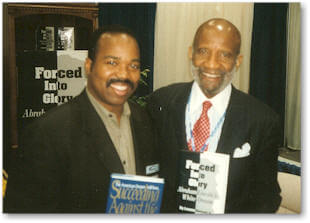Lerone Bennett with AALBC.com founder Troy Johnson
