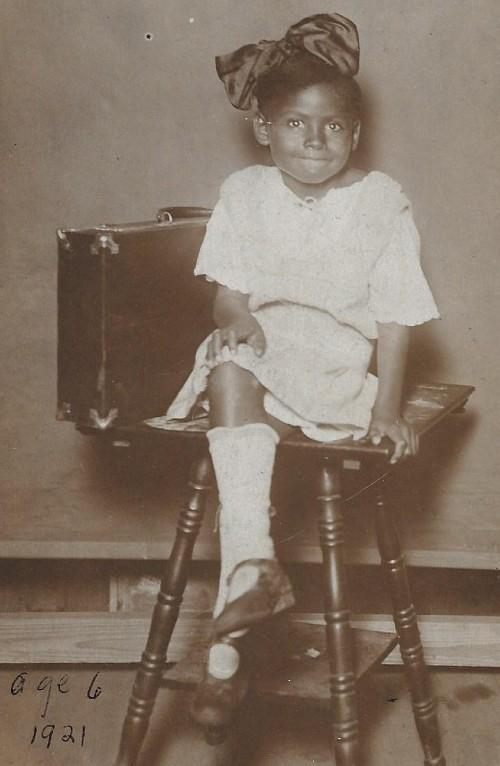 Photo Olivia Hooker age 6