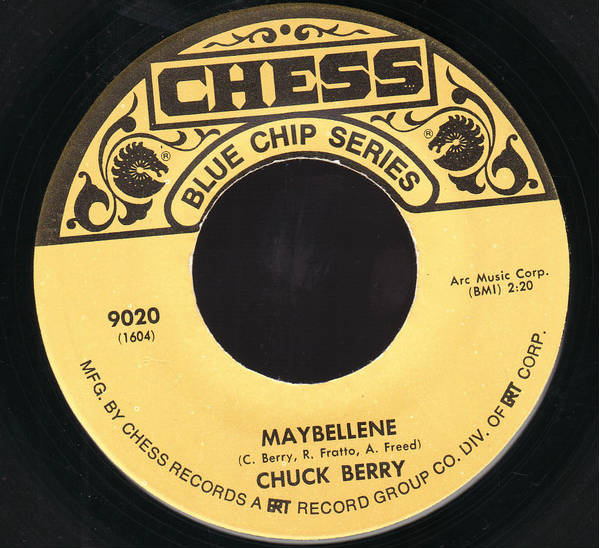 Chuck Berry Maybellene 45 record label