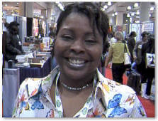 Hallema at Book Expo, June 2005 photo by AALBC.com
