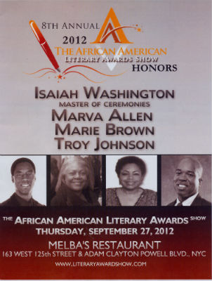 Program from The 8th Annual African American Literary Awards Show 2012
