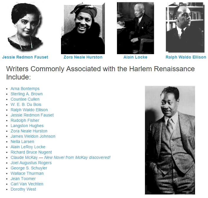 I need help on where to find info on the Harlem Renissance.?