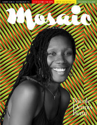 Mosaic Magazine cover featuring Nicole Dennis-Been Issue #39