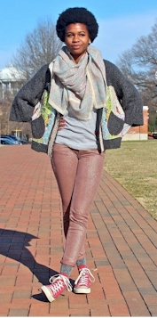 Nina as a college student, Wake Forest University