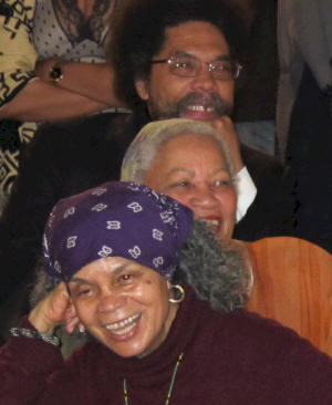 Cornel West, Toni Morrison, Sonia Sanchez photo by Brooke Stephenson