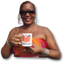 Bernice with AALBC.com Mug
