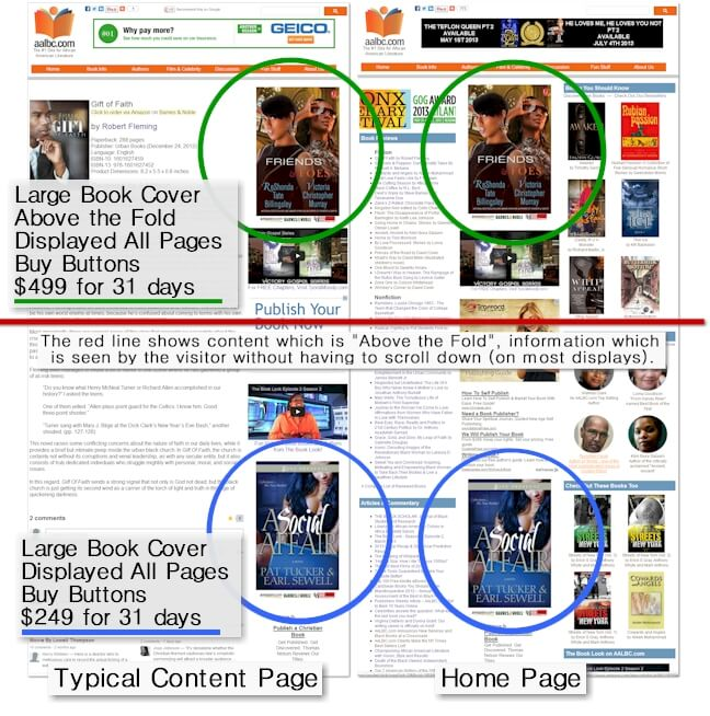 Large (Big) Book Cover Advertising on AALBC.com