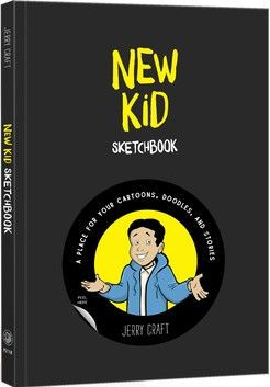 Book Cover New Kid Sketchbook: A Place for Your Cartoons, Doodles, and Stories by Jerry Craft