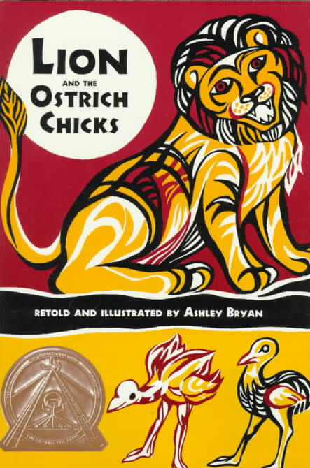 Click for a larger image of Lion and the Ostrich Chicks: And Other African Folk Poems
