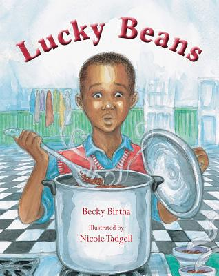 Book Cover Lucky Beans by Becky Birtha
