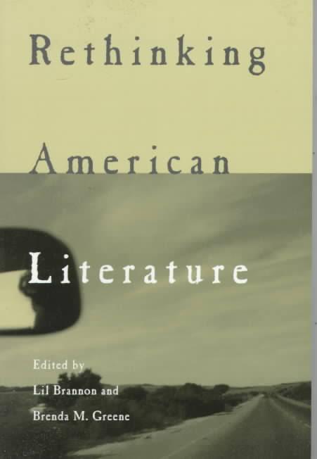 Book Cover Rethinking American Literature by Brenda M. Greene