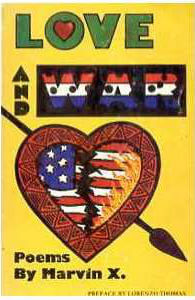 Book Cover Love and War by Marvin X
