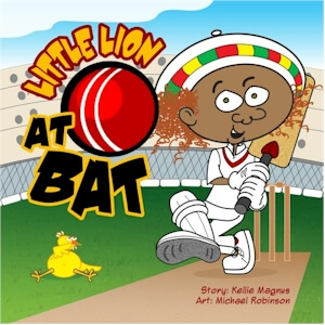 Click for more detail about Little Lion at Bat by Kellie Magnus