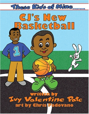 Click for a larger image of CJ's New Basketball (These Kids of Mine)