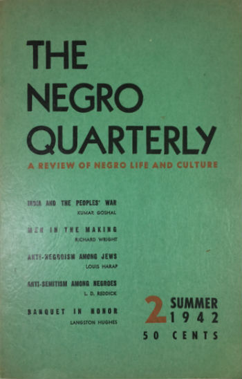 Click for more detail about The Negro Quarterly by Ralph Ellison
