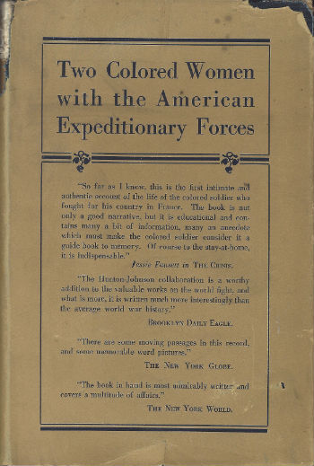 Book Cover Two Colored Women With the American Expeditionary Forces by Addie W. Hunton and Kathryn M. Johnson