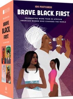 Book Cover Brave. Black. First. 100 Postcards by Cheryl Willis Hudson