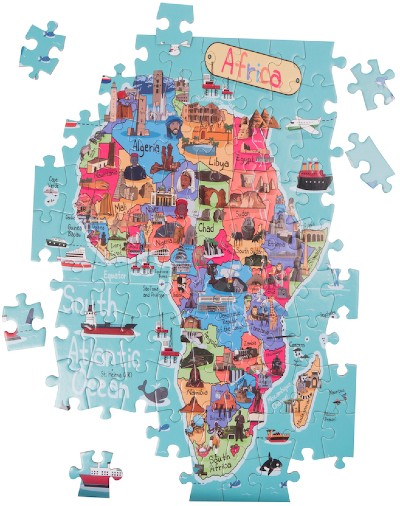 Click for more detail about Africa Map Jigsaw Puzzle by Very Puzzled