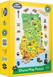 Book Cover Ghana Jigsaw Puzzle by Very Puzzled