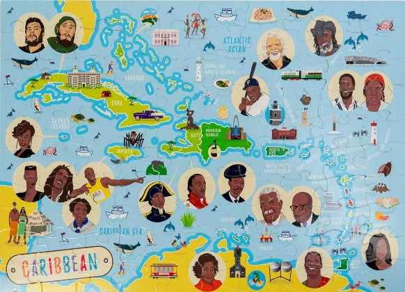 Click for more detail about Caribbean Map Jigsaw Puzzle by Very Puzzled