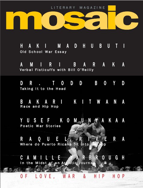 Book Cover Mosaic Literary Magazine Issue #14 by Ron Kavanaugh