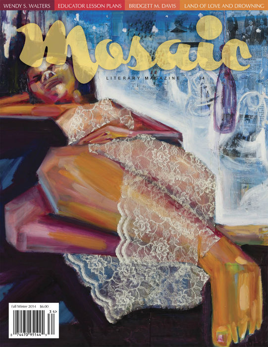 Book Cover Mosaic Literary Magazine Issue #34 by Ron Kavanaugh