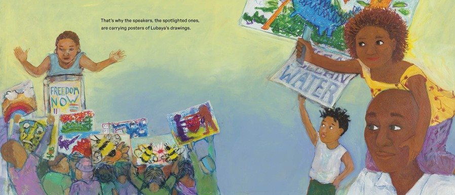 Sample pages from Lubaya�s Quiet Roar by Marilyn Nelson, Illustrated by Philemona Williamson