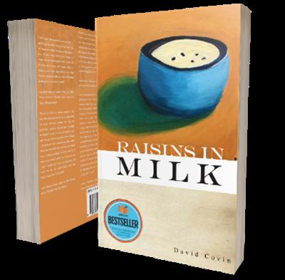 Bookcover Raisins in Milk by David Covin