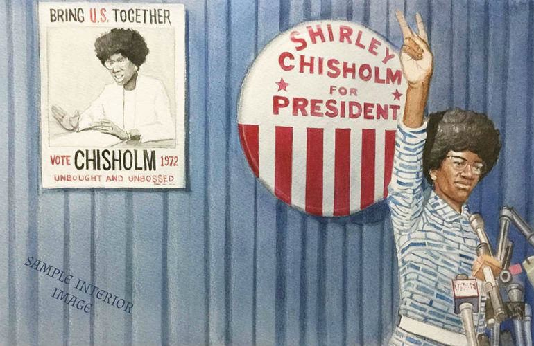 Interior Image of She Was the First!: The Trailblazing Life of Shirley Chisholm