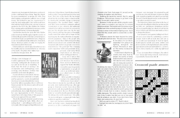 mosaic magazone features aalbc crossword puzzle
