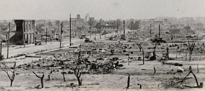 Photo of the aftermath of Tulsa Race Massacre