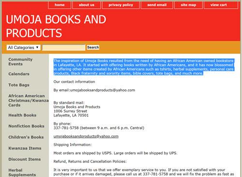 Umoja Books and Products