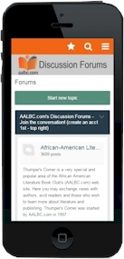 Our African-American Literature Discussion Forum is Now Mobile!