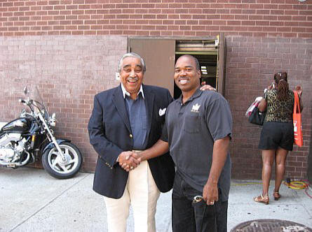 Charles B. Rangel and AALBC.com Founder Troy Johnson