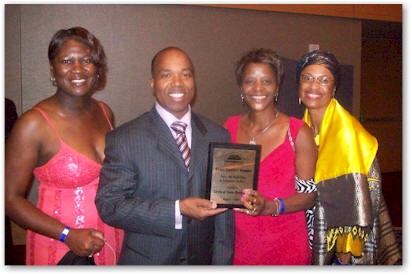 Circle of Color Book Club members with AALBC founder Troy Johnson