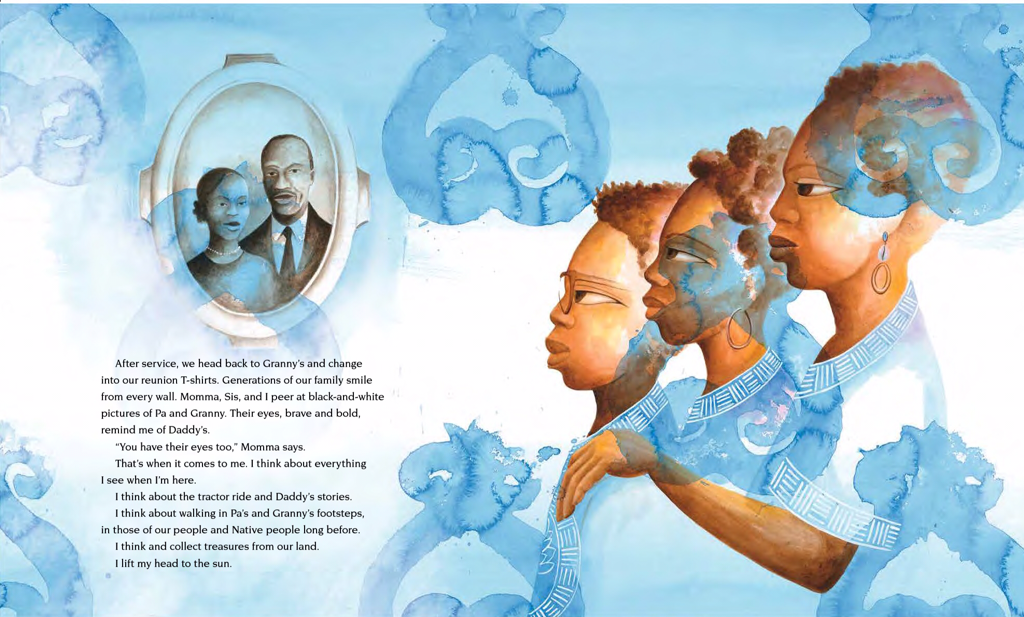 Sample Image from Going Down Home with Daddy Illustrated by Daniel Minter