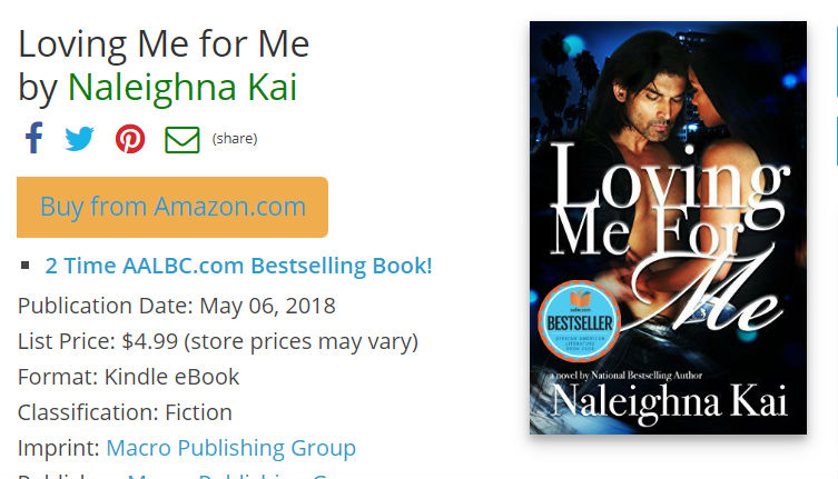 Loving Me for Me by Naleighna Kai a 2-time AALBC Bestselling book (eBook)