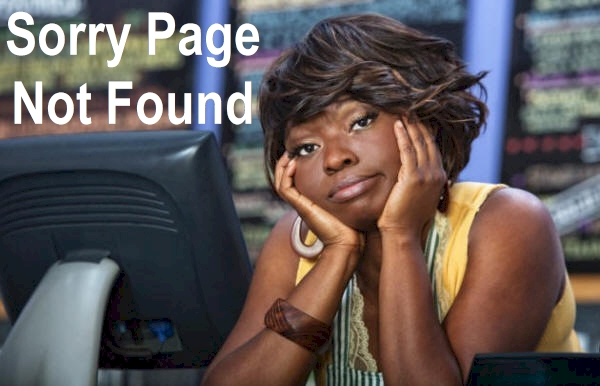 Page Not Found Sad Woman