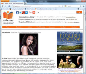 JJ Smith Author Profile Page Screen Shot Visit to see an example