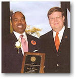 Troy Johnson presented with Outstanding Alumni Award