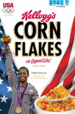 Gabrielle Douglas On cereal Box