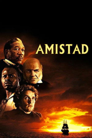 an analysis of amistad in la amistad by steven spielberg Einque, played by djimon honsou, center, and his fellow captives are put on trial  for the rebellion on board the slave ship la amistad in.