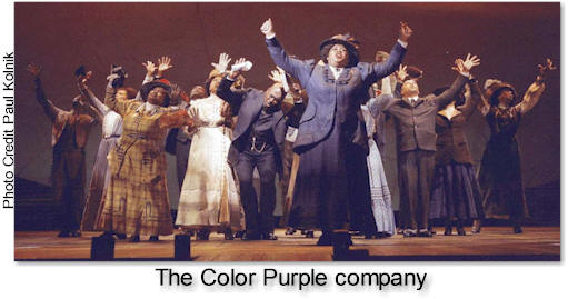 the winner receives four tickets to the musical and a signed copy of the color purple a memory book of the broadway musical