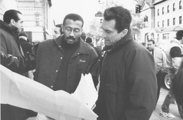 "Wynn Thomas with Robert De Niro on the set of A Bronx Tale"" (1993)"
