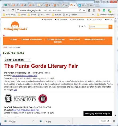 mahoganybooks.com book festivals/